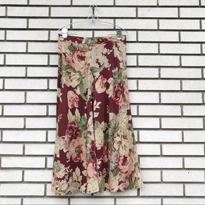 Vintage Banana Republic Floral Midi Skirt